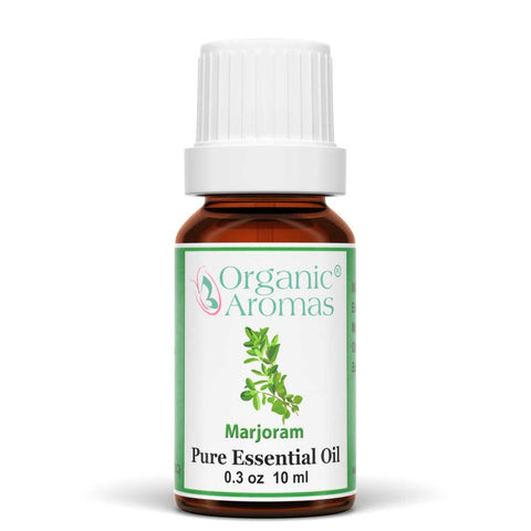 majoram pure essential oil by organic aromas 10ml
