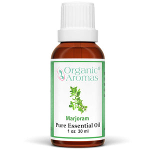 majoram pure essential oil by organic aromas 30ml