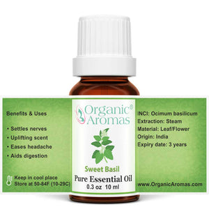 sweet basil pure essential oil open label 10ml
