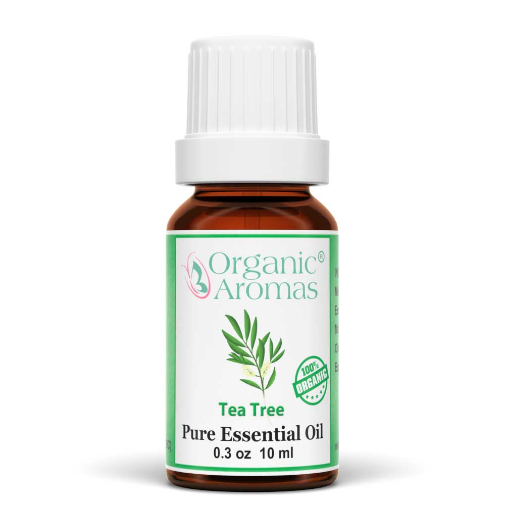tea tree pure essential oil by organic aromas 10ml