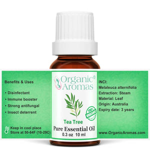 tea tree pure essential oil by organic aromas open label