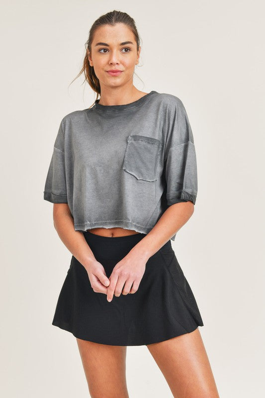 Mineral Wash Cropped Tee
