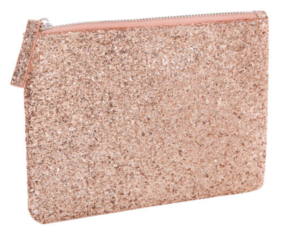 Light Pink Glitter Cosmetic Bag