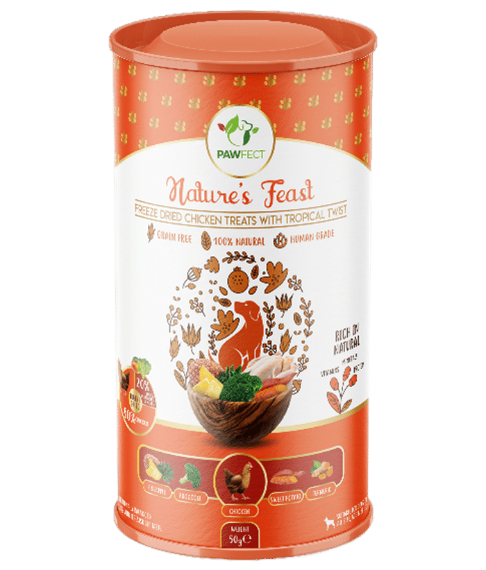 Freeze-Dried Chicken Treats with Tropical Twist