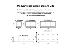 2x Storage lids for 1x2 Module