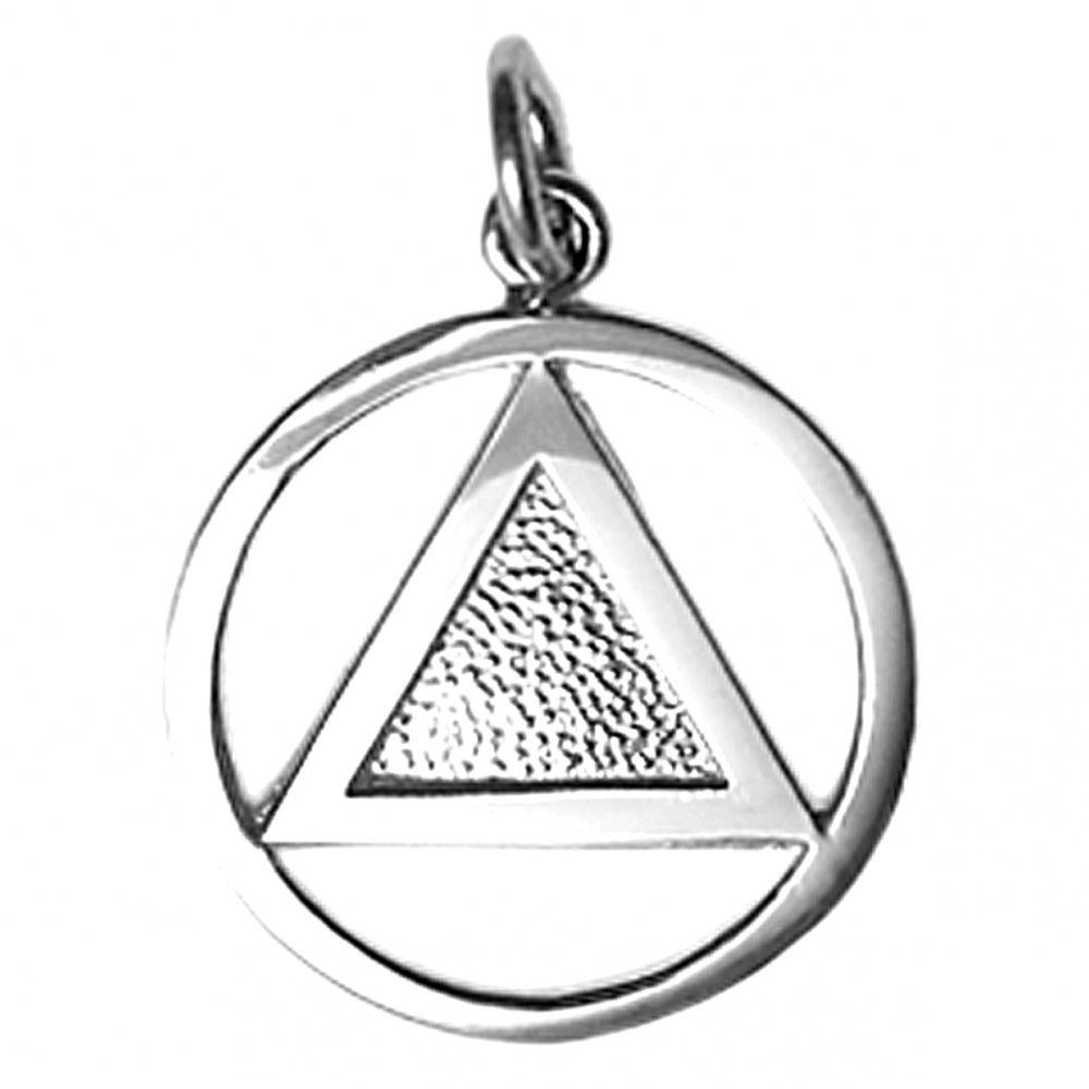 sterling silver, textured triangle aa pendant