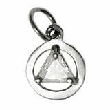 sterling silver, small size, available in 3 different 5mm triangle colored cz stones