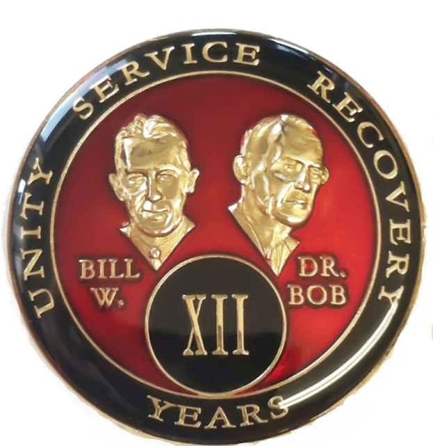 bill & bob red triplate medallion