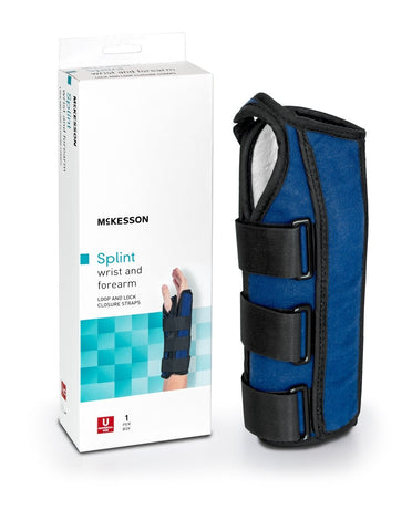 Wrist / Forearm Brace McKesson Blue One Size Fits Most