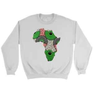 African Map Sweatshirt WUMI - White