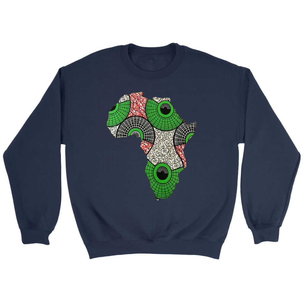 African Map Sweatshirt WUMI - Deep Blue