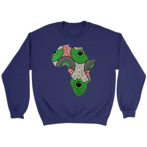 African Map Sweatshirt WUMI - Purple