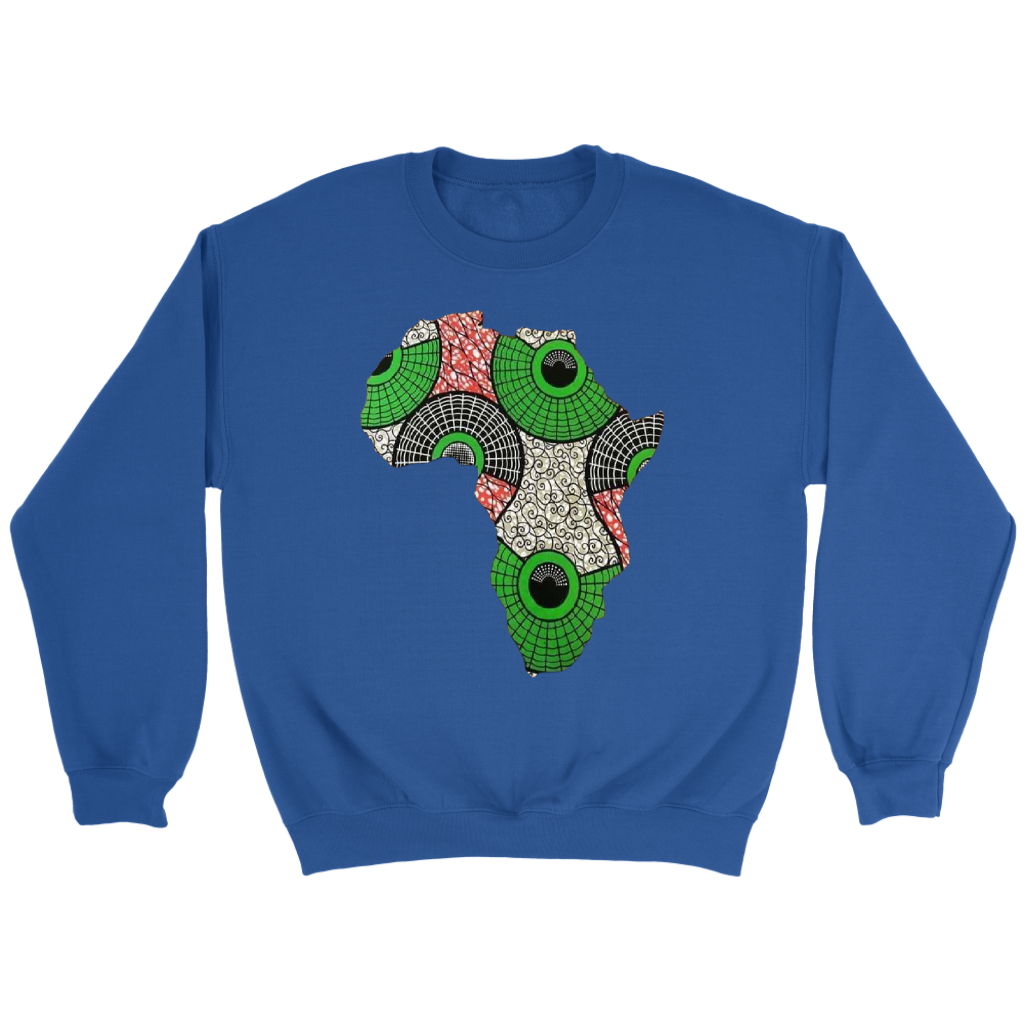 African Map Sweatshirt WUMI - Navy