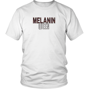 Melanin Queen Shirt FADE - White