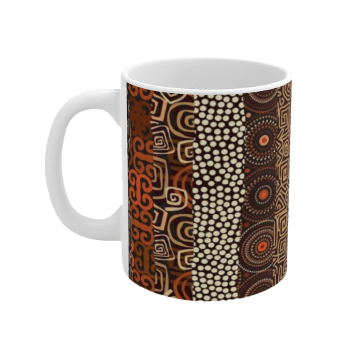 African Print Coffee Mug MANFE-Left-Side