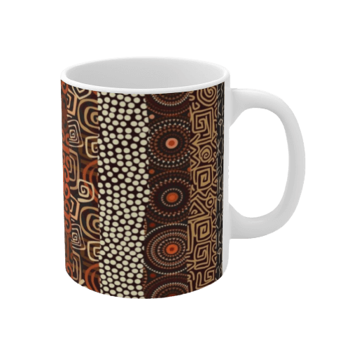 African Print Coffee Mug MANFE-Right-Side