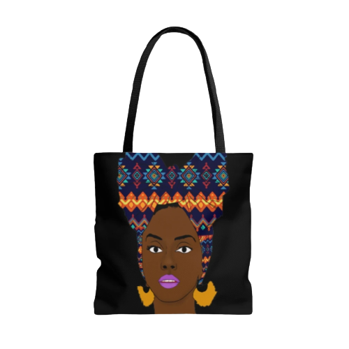 African Girl Tote Bag MALALA-Back-View