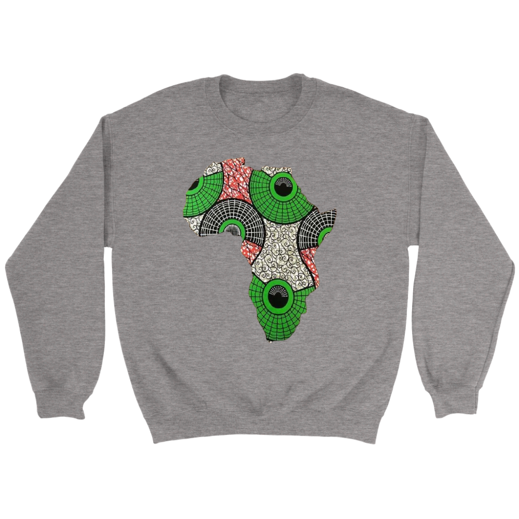 African Map Sweatshirt WUMI - Gray