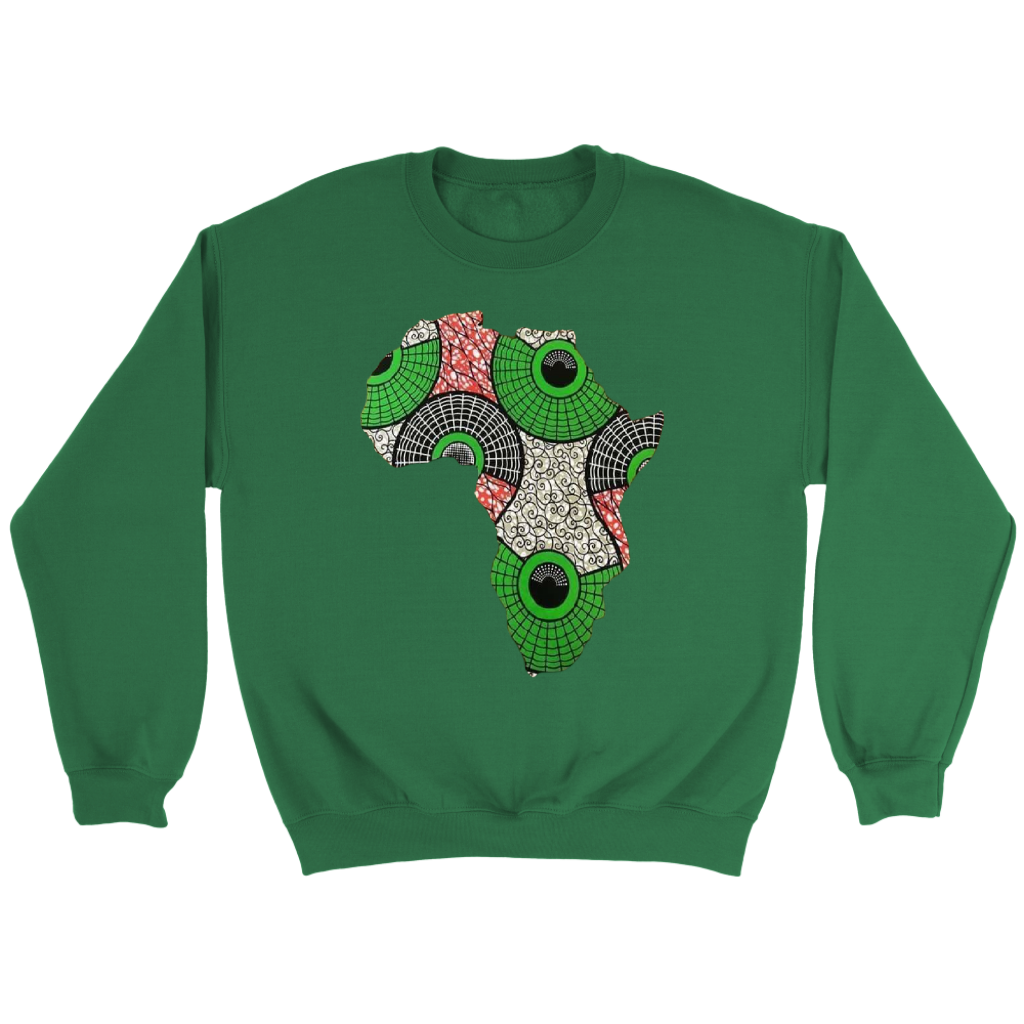 African Map Sweatshirt WUMI - Green