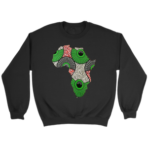 African Map Sweatshirt WUMI - Black