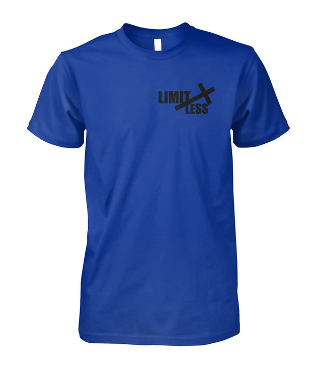 UNISEX LIMITLESS CHRISTIAN ROYAL BLUE  TSHIRT