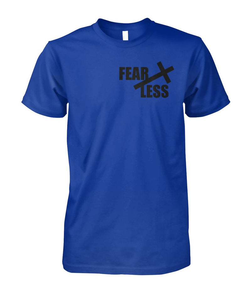 UNISEX FEARLESS CHRISTIAN ROYAL BLUE TSHIRT