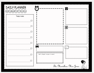 The Marvellous Miss Jones Daily Planner Deskpad Organiser Papers