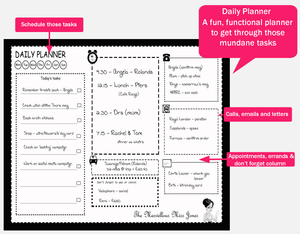 The Marvellous Miss Jones Daily Deskpad Organiser Papers