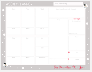 The Marvellous Miss Jones Weekly Deskpad Organiser Papers
