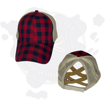 Criss Cross Pony Tail Hats (IN STOCK)