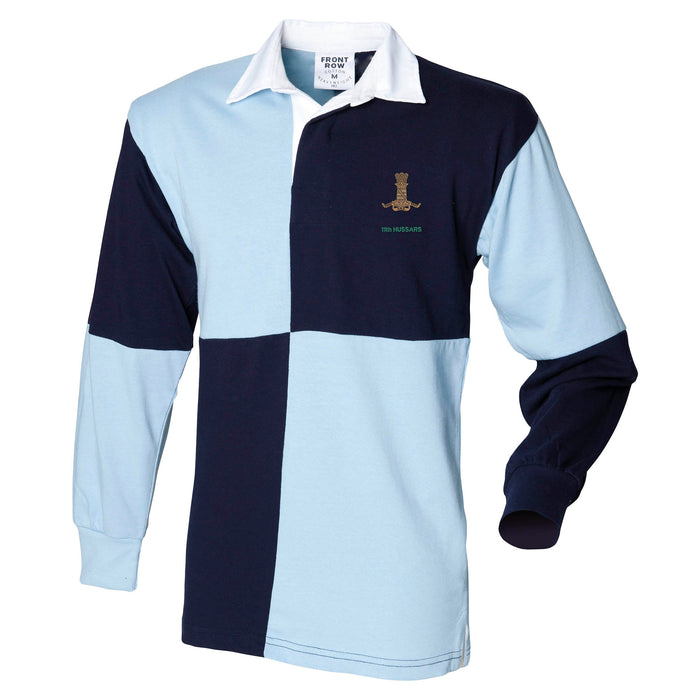 11th Hussars Long Sleeve Quartered Rugby Shirt