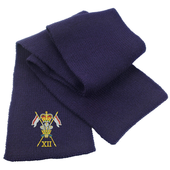 12th Royal Lancers Heavy Knit Scarf