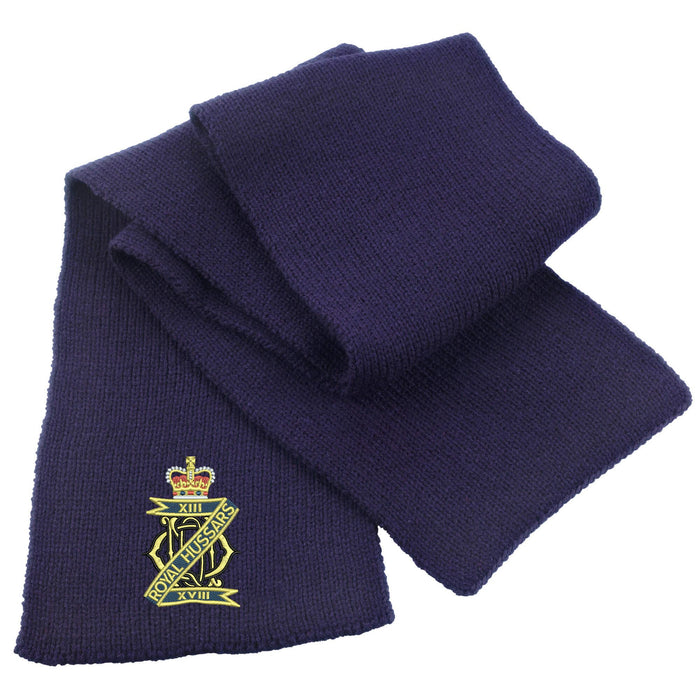 13th/18th Royal Hussars Heavy Knit Scarf