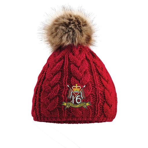 16th/5th The Queen's Royal Lancers Pom Pom Beanie Hat