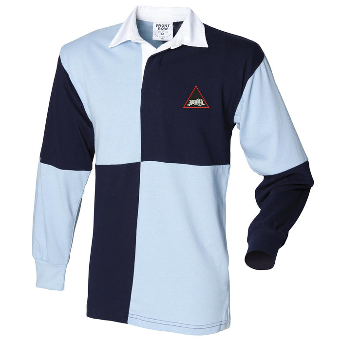 1st Armoured Division Long Sleeve Quartered Rugby Shirt