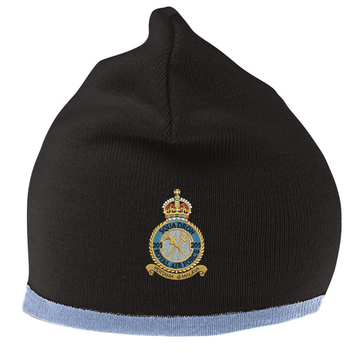 205 Squadron Royal Air Force Beanie Hat