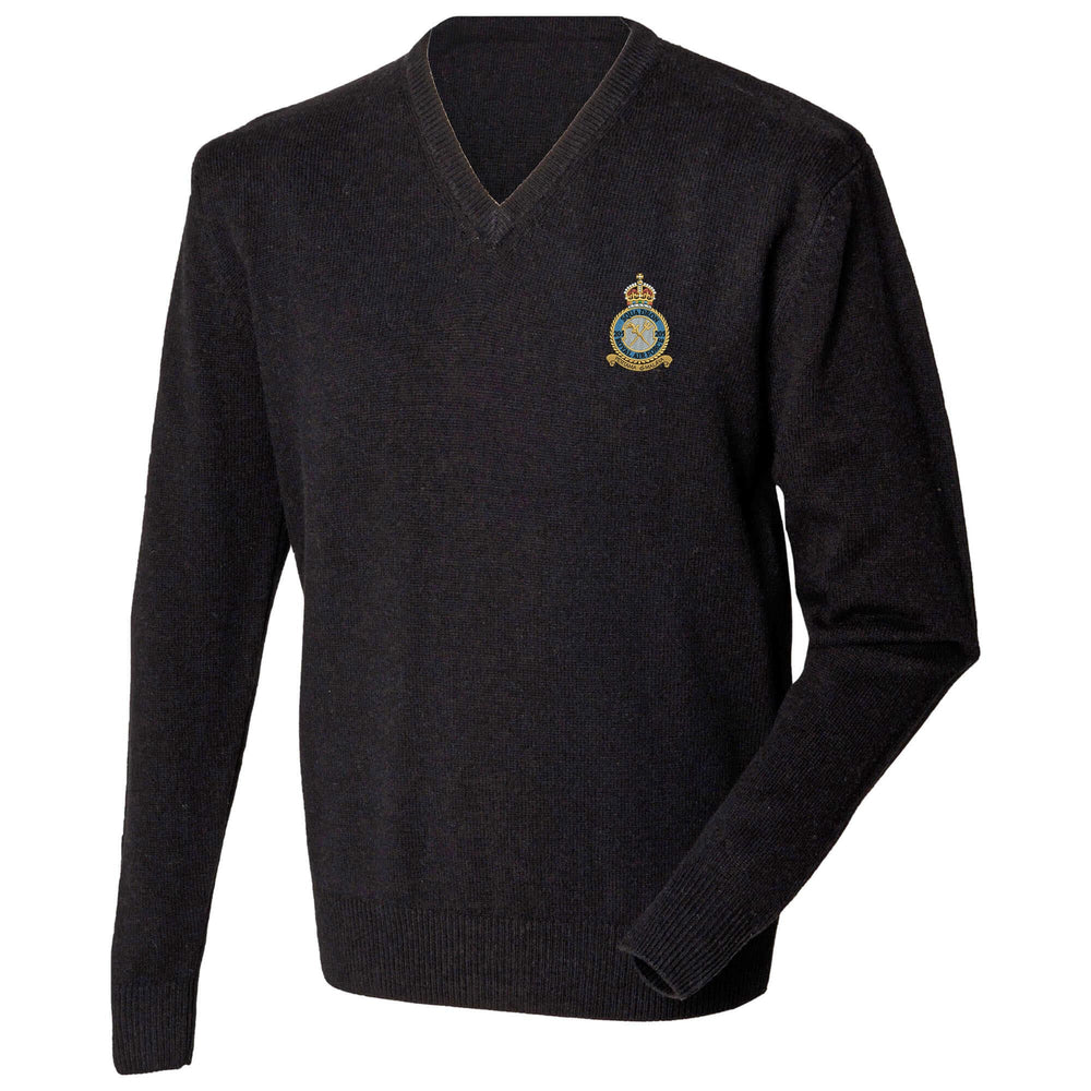 205 Squadron Royal Air Force Lambswool V-Neck Jumper