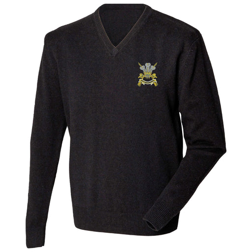 3rd Carabiniers Lambswool V-Neck Jumper
