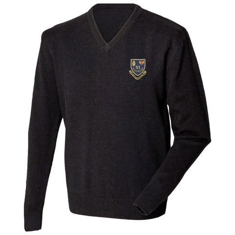 51 Ordnance Company - Royal Army Ordnance Corps Lambswool V-Neck Jumper