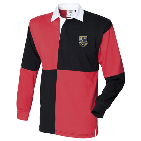 51 Ordnance Company - Royal Army Ordnance Corps Long Sleeve Quartered Rugby Shirt