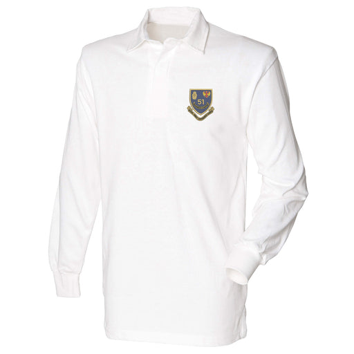 51 Ordnance Company - Royal Army Ordnance Corps Long Sleeve Rugby Shirt