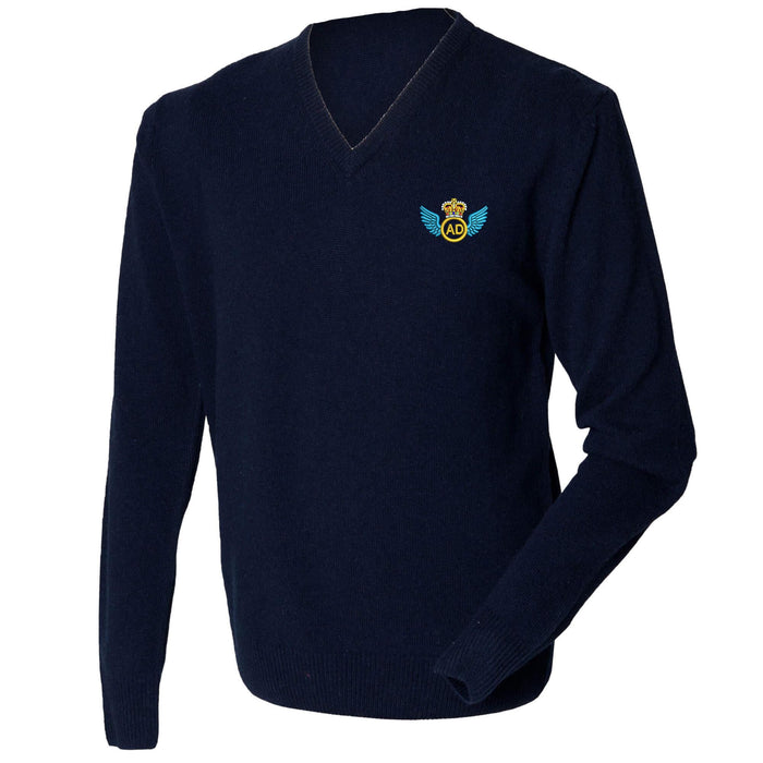 Air Despatch Lambswool V-Neck Jumper