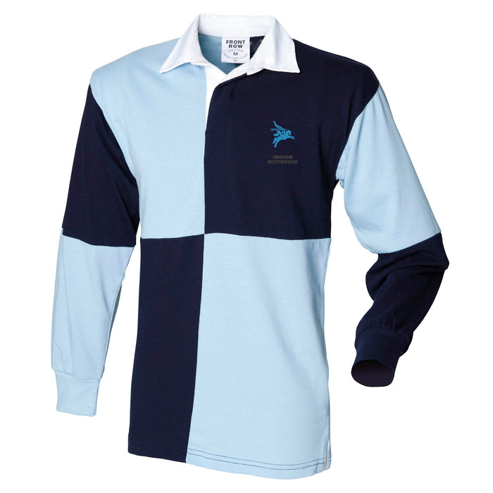Airborne Brotherhood Long Sleeve Quartered Rugby Shirt