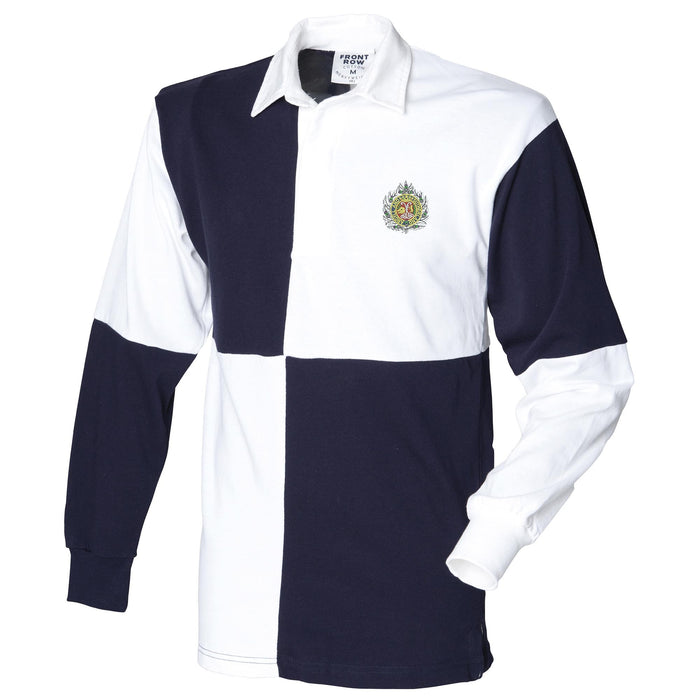 Argyll and Sutherland Long Sleeve Quartered Rugby Shirt