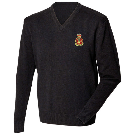 Army Catering Corps Lambswool V-Neck Jumper