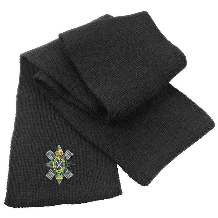 Black Watch Heavy Knit Scarf