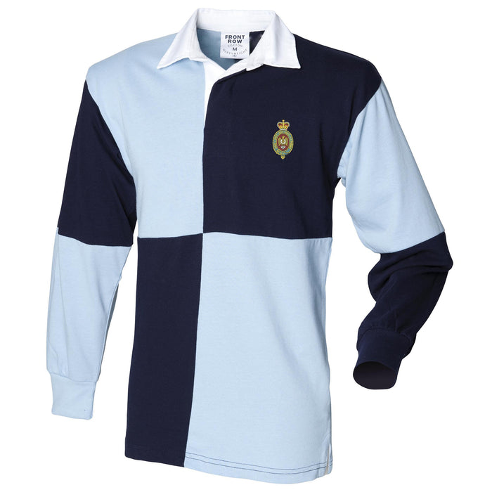 Blues and Royals Long Sleeve Quartered Rugby Shirt