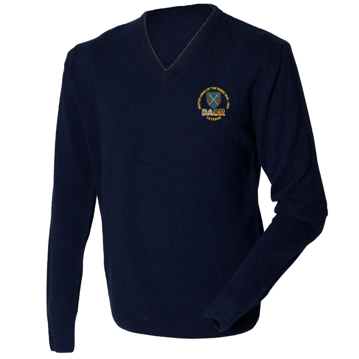 British Army of the Rhine Lambswool V-Neck Jumper