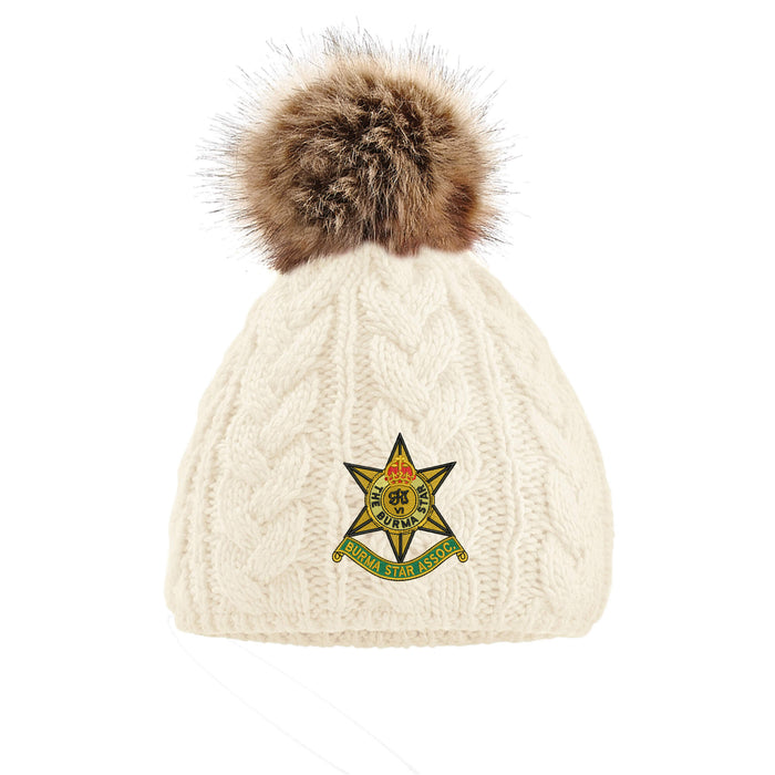 Burma Star Association Pom Pom Beanie Hat