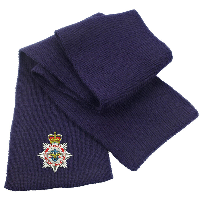 Defence Fire and Rescue Service Heavy Knit Scarf